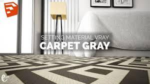 setting vray material carpet grey