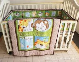 baby bedding set embroidery giraffe