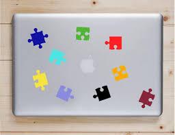 9 Pieces Autism Decals Autism Awareness Decal Puzzle Decals Etsy