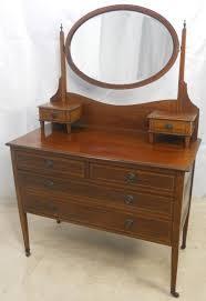 edwardian inlaid mahogany dressing
