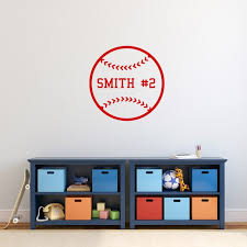 Custom Baseball Wall Decal