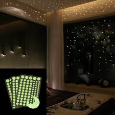 Amazon Com 252 Pcs Round Dot Wall Stickers Moon Glow In The Dark Star Wall Stickers Dots And Moon Starry Sky Kids Room Decor Health Personal Care