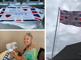 Stroud mum creates incredible flag to show support to NHS Heroes -  Gloucestershire Live
