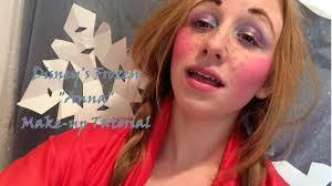 anna frozen makeup and hair tutorial