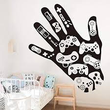 Byron Hoyle Hand Games Gamepad Decal Gamer Xbox Playstation Wall Decal Sticker Vinyl Home Decor Boy Room Home Decor Home Kitchen Cjp Org In