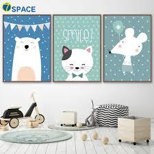Phim hoạt hình Gấu Mèo Chuột Tường Nghệ Thuật Vẽ Tranh Bắc Âu Posters Và  Prints