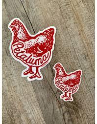 Petaluma Chicken Die Cut Vinyl Decal Field Works Petaluma