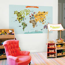 Zoomie Kids Children S World Map Wall Decal Wayfair