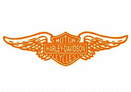 Wall Decal Harley Davidson Sticker Adhesive Tape Harley Davidson Logo Stencil Text Orange Png Pngegg