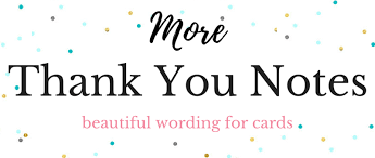 thank you note wording for all occasions