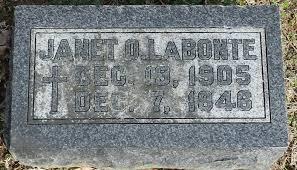 Janet O. Adeline Peterson LaBonte (1905-1946) - Find A Grave Memorial