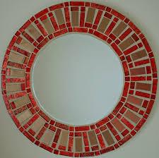 large round mirror mosaic mirror hand
