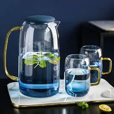 ounce clear glass teapot kettle