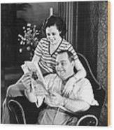 Roscoe Arbuckle & Addie Wood Print by Underwood Archives
