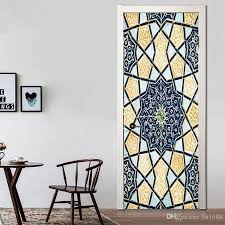 Creative Islamic Muslim Patterns Door Sticker Vinyl Decal Self Adhesive Living Room Home Decoration Waterproof Removable Mural Art Roommates Stickers Self Adhesive Wall Stickers From Fst1688 30 15 Dhgate Com