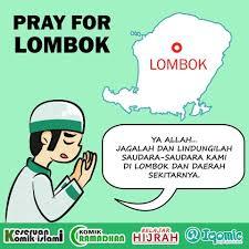 pray for lombok mari kita bantu kumpulan komik islami facebook