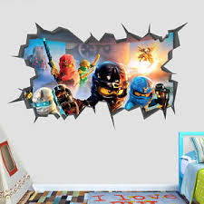 Home Garden Lego Ninjago Wall Decal Sticker Vinyl Decor Mural Cole Black Character Stickers Home Garden