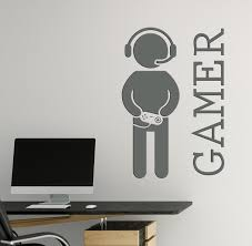 Gamer Wall Stickers Video Games Joystickdecor For Playroom Vinyl Decal Wallstickers4you