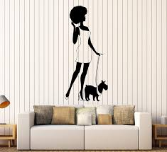 Amazon Com Vinyl Wall Decal Afro Lady Woman Style Fashion Dog Stickers 417ig Matte Black Home Kitchen