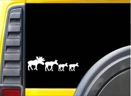 Amazon Com Ez Stik Moose Family Sticker K930 8 Inch Decal Automotive