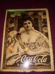 Rare UNLISTED Hilda Clark COCA COLA Soda ENAMELED Sign | #169347914