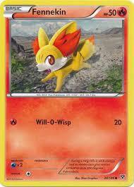 Pokemon Trading Card Game XY Base Set Single Card Common Fennekin 24 -  ToyWiz
