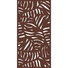Modinex 6 Ft X 3 Ft Espresso Brown Decorative Composite Fence Panel Featured In The Panama Design Usamod5e The Home Depot