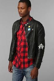 vintage men s punk leather jacket