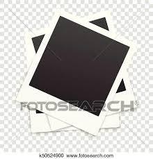many retro photo frames isolated on