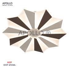 Đèn ốp trần LED Mica Arcylic DOT 6924A – Đèn Trang Trí Apollo Lighting
