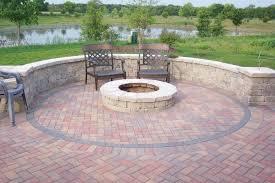 fire pit from bricks brick patio ideas