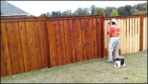 Best Way To Stain A Fence Fence Stain Wood Fence Cedar Fence Stain