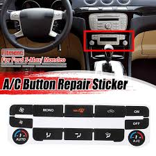 Silver Black Car Air Condition Ac Climate Control Button Repair Sticker Decal For Ford S Max For Mondeo Fix Ugly Button Car Stickers Aliexpress