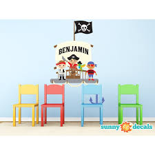 Sunny Decals Pirate Ship With Custom Name Personalized Wall Decal Wayfair