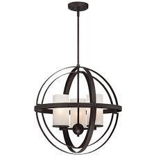 light bronze sphere pendant light