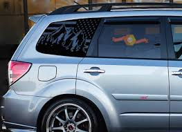 Product Subaru Forester Usa Flag Windshield Decals Stickers Fits 2009 2013 Side Windows 2 5x Turbo