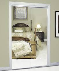 beveled frameless mirrored sliding door