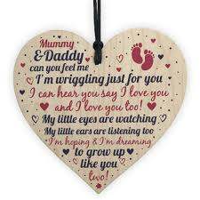 gifts wooden heart baby shower gifts