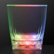 rounded cube rocks whiskey cola glass