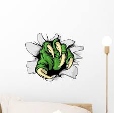 Monster Claw Ripping Hole Wall Decal Wallmonkeys Com