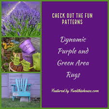 funky purple and green area rugs the