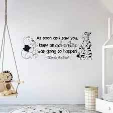 Amazon Com Winnie Pooh Tigger As Soon As I Saw You Quote Baby Room Wall Decal Decal For Baby S Room Wide 30 X 12 Height Home Kitchen