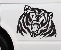 Collectibles Transportation Bear Sticker Transportation Black Grizzly Brown Bear Logo Wild Vinyl Decal Car Truck Outdoor Zsco Iq