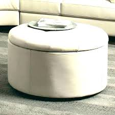 leather ottoman storage square tufted