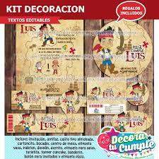 Kit Imprimible Jake Piratas Invitacion Decoracion E60 29 00 En
