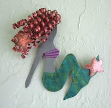 mermaid wall art metal sculpture free