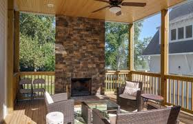 screened porch fireplace ideas pictures