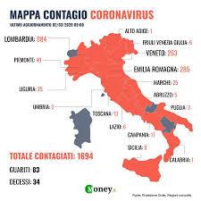 Coronavirus in Italia: mappa contagi e numeri, regione per regione
