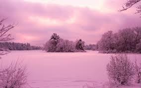 sunset over winter landscape wallpaper