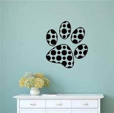 Winston Porter Locksly Polka Dot Paw Print Vinyl Wall Decal Wayfair